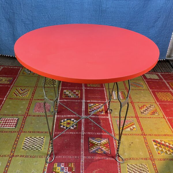 Pictured, Red Sweetheart Soda Shoppe Table, among the vintage rental furniture available from Catalyst Ranch