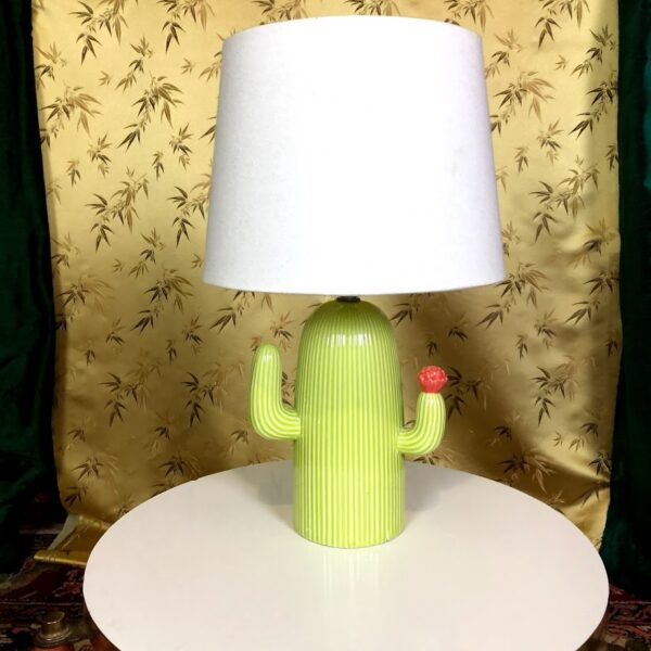 Pictured, Small Cactus base side lamp, among the vintage rental furniture available from Catalyst Ranch