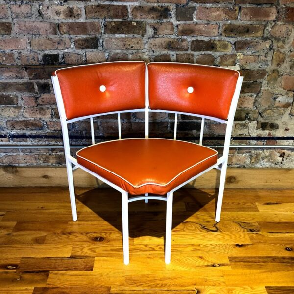 Retro Corner seat red bench for rent