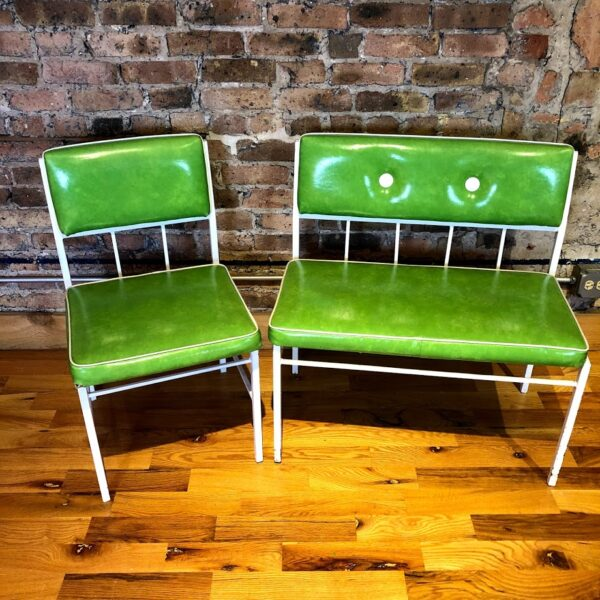 Retro Table Bench with Single dining chair for rent